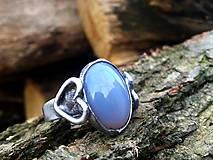 - ZĽAVA Srdiečkový prsteň so sivým chalcedónom - 8923832_