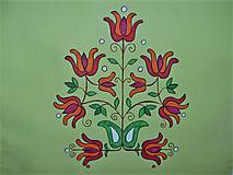 Úžitkový textil - Maľovaný obrus stredový - žlto zelený, 40 x 140 cm - 8922642_