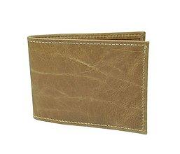 Iné - Kožené púzdro na platobné karty, hnedý popraskaný dekor - 8924452_