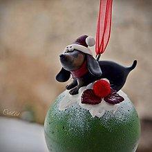 Dekorácie - Vianočná guľa - so psom podľa požiadavky - 8924622_