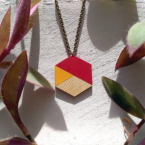 Náhrdelníky - Drevený náhrdelník Karmen - 8923655_