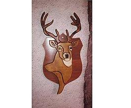 Dekorácie - Hlava jelena z dreva - 8922521_