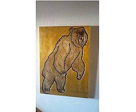 Obrazy - Spievajúci medveď - 8922526_