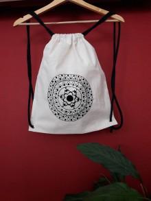 Batohy - Ručne vyšívaný batoh Čierna mandala - 8922569_