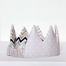 Detské čiapky - Jemne fialová korunka - 8925945_
