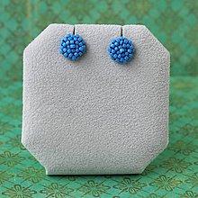 Náušnice - Minizetky (světle modrá) - 8923584_