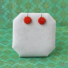 Náušnice - Minizetky (Oranžová) - 8923596_