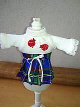 - Tričko a skladaná suknička pre bábiku- 25-26 cm. - 8924470_