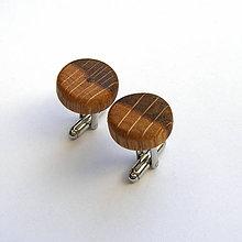 Šperky - Dubové dvojfarebné krúžky - 8924798_