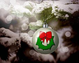 Grafika - Vianočná guľa (grafický obrázok) - vianočný veniec - 8923029_