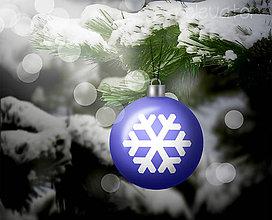 Grafika - Vianočná guľa (grafický obrázok) - snehová vločka - 8924235_