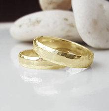 Prstene - Satin & hammer (leštená varianta) - 8930241_