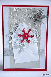 Papiernictvo - Vianočná pohľadnica vločková (Vianočná pohľadnica vločková 2) - 8927952_