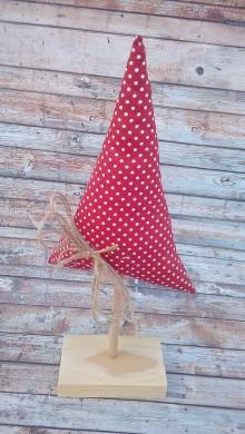 Dekorácie - Stromček (Červená + biele minibodky) - 8928694_