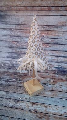 Dekorácie - Stromček (Zlatá vianočná) - 8928722_
