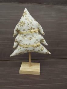 Dekorácie - stromček (Vanilková + zlatá vianočná ruža) - 8929717_