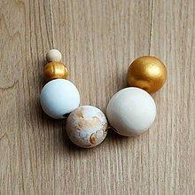 """Náhrdelníky - náhrdelník """" MINIMAL 40""""- drevo maľované akrylom - 8928006_"""