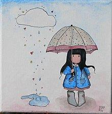 Obrázky - Obrázok Dievčatko s dáždnikom - 8928688_