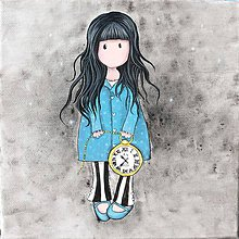 Obrázky - Obrázok Dievčatko s hodinkami - 8928740_