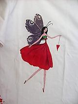 Tričká - Maľované detské tričko, Makulienka, veľkosť 128/134 - 8926786_