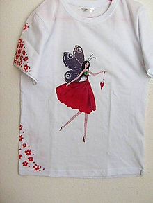 Tričká - Maľované detské tričko, Makulienka, veľkosť 128/134 - 8926788_