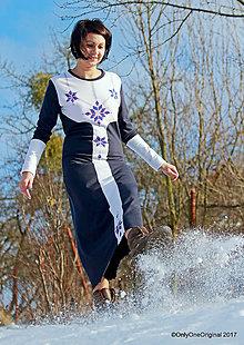 Šaty - Dámske šaty maxi, šité, maľované, folk  NA  LUCIU - 8926500_