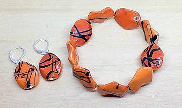Sady šperkov - Oranžová sada - 8926439_
