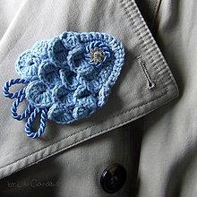 Odznaky/Brošne - Brošňa modrá fiš - 8930700_