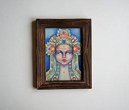 Obrazy - Hra na uvedomenie Fine Art Print v drevenom ráme 18x23 cm - 8927289_