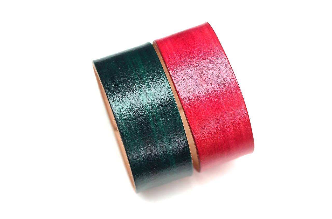 Kožený náramok SAIRAM (Zelená)