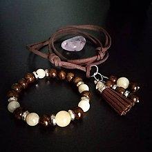 Sady šperkov - Set náramok a prívesok - 8927683_