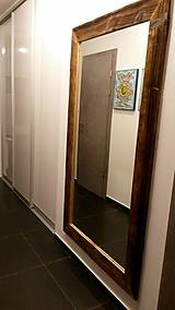 Zrkadlá - Zrkadlo so starého dreva - 8929421_