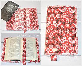 Úžitkový textil - Obal na knihu FOLK - 8929606_