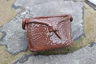 Dekorácie - Keramická kabelka - kvetináč - 8928436_