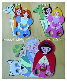 Hračky - Prstové bábky...červená čiapočka...sada 4 ks - 8929756_