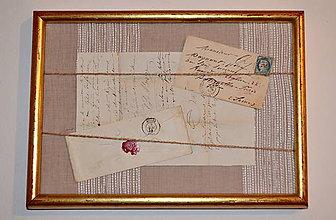 Obrazy - Obraz s historickým listom a obálkou - 8928108_