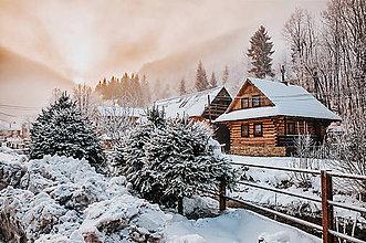 Fotografie - dedinka pod snehom - 8927029_