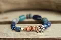 - Boho náramok z minerálov blue - 8929337_