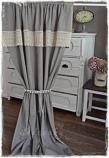 Úžitkový textil - záves bledohnedý - 8926699_