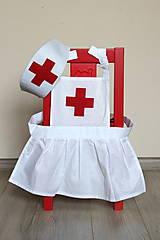 Detské oblečenie - Sestrička - plášť a čiapka - 8926301_