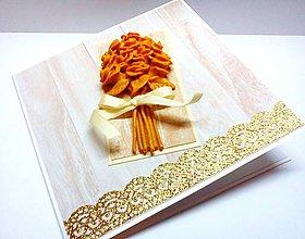 Papiernictvo - Pohľadnica ... Svadba ... zlatá - 8933414_