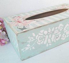 Krabičky - Zásobník na vreckovky mint - 8930881_