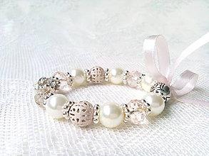 Náramky - Pink love bracelet - 8933843_