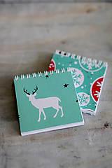Papiernictvo - Sada vianočných zápisníkov - 8931847_