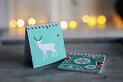 Papiernictvo - Sada vianočných zápisníkov - 8931848_