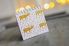 Papiernictvo - Set troch vianočných zápisníčkov - 8931854_