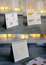Papiernictvo - Set troch vianočných zápisníčkov - 8931876_