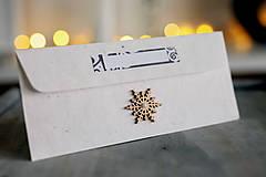Papiernictvo - Obálka na peniaze VIANOCE - 8931882_