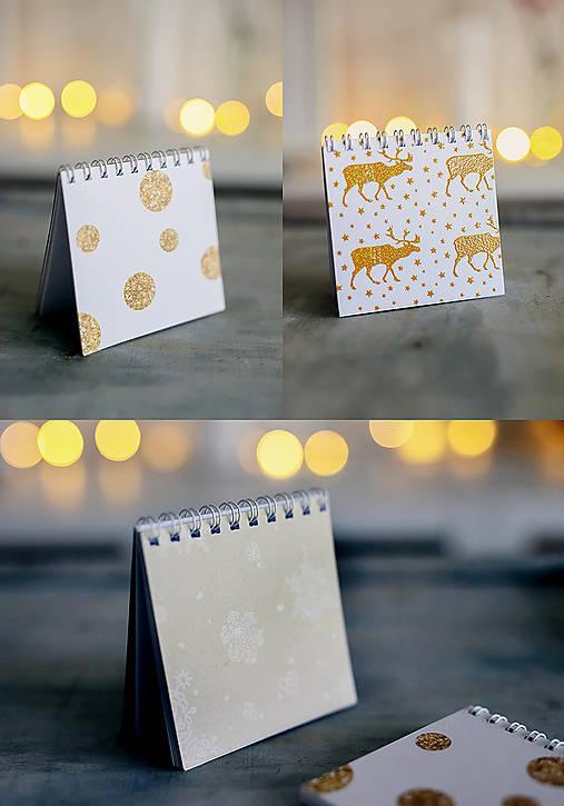 Set troch vianočných zápisníčkov