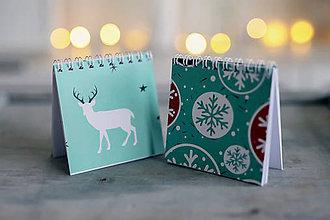 Papiernictvo - Sada vianočných zápisníkov - 8931849_